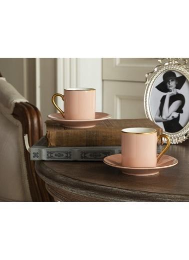 Madame Coco Phillipa 4'lü Kahve Fincan Takımı Pudra